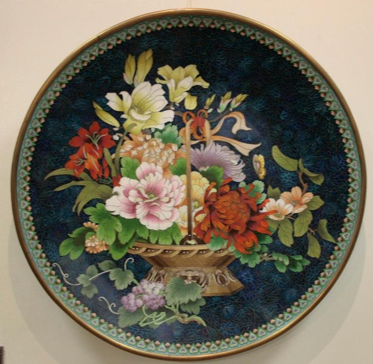 Тарелка настенная «Букет цветов»