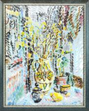 Натюрморт с желтой вазой