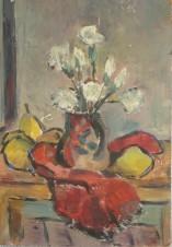 Натюрморт с цветами и фруктами