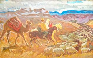 Перегон скота на новые пастбища. Киргизия.