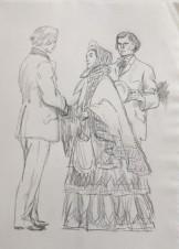 На вокзале (иллюстрация к роману Л.Н.Толстого «Анна Каренина»)