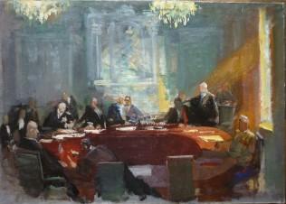 «Совещание глав четырех держав. Тегеранская конференция» (эскиз)
