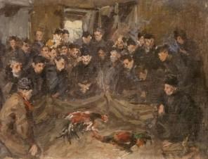 Эскиз к картине «Петушиный бой»