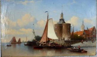 Вид на гавань и Дромедарий в Энкхейзене