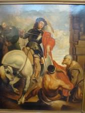 Святой Мартин, делящийся плащом с нищим (копия Антониса ван Дейка 1599-1641)