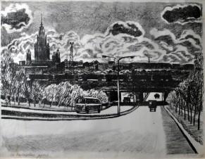 Москва. На кольцевой дороге
