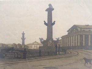 Растральная колонна и биржа. Санкт-Петербург