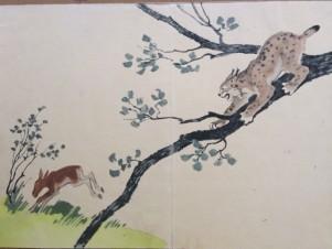 Иллюстрация к книге «Все в лесу». Детгиз.