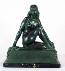 Скульптура бронзовая «Вакханка» («Обнаженная с цветами»)