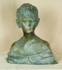 Скульптура бронзовая «Бюст мальчика»