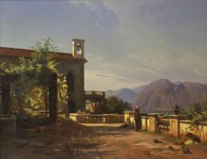 На террасе монастыря
