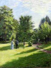 Пара, играющая в крокет в парке народной школы в Карисе