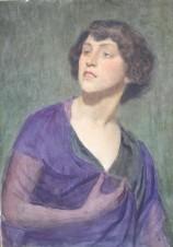 Женщина в лиловом