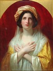 Портрет набожной итальянской девушки