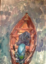 Лодка с моторчиком