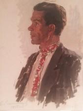 Портрет мужчины в ярком галстуке