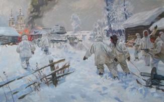 В снегах Подмосковья