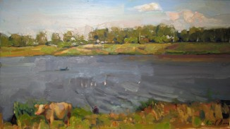 Летний пейзаж с коровой