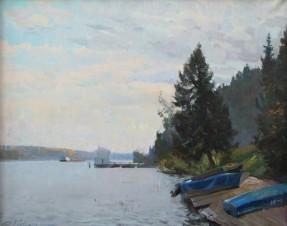Волга, прозрачное утро