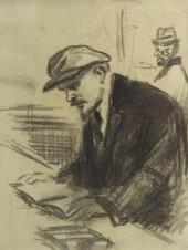 Ленин за чтением (Ленин и Троцкий)