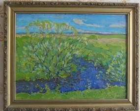 Юный май- Черемуха у ручья