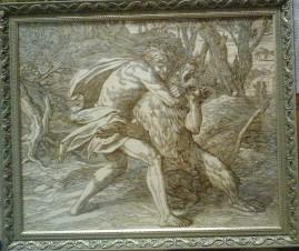Самсон убивает льва (копия Карольсфельда- Julius Schnorr von Carolsfeld)