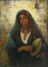 Цыганка (копия с картины К. Маковского)