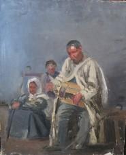 Слепой музыкант, играющий на лире