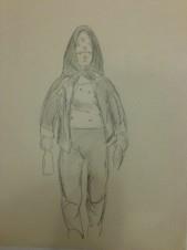 Женщина в рабочей одежде и зеленом платке (из серии «На стройке»)