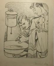 Званый обед. Иллюстрация к «Библиотеке «Крокодила»