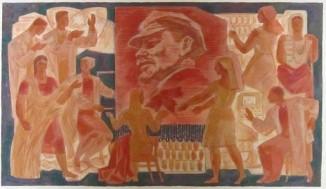 Эскиз к панно «В.И.Ленин»