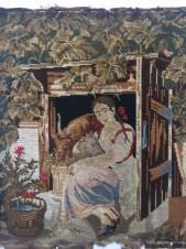Гобелен «Девушка с козочкой»