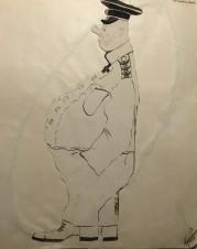 Нахимов. Карикатура