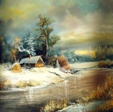 Скованная льдом река