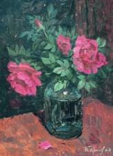 Натюрморт с цветущим шиповником