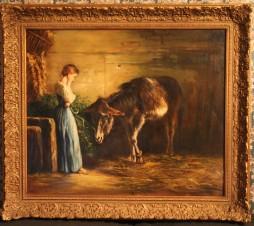 Девочка с осликом