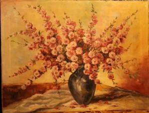Цветущие розовые веточки