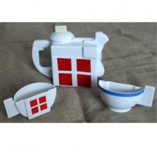 Сервиз «Малевича» (чайник, две получашки)