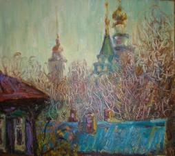 Зимний пейзаж (Вид из окна)