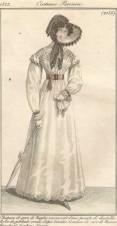 Платье женское , модный журнал , 1822 год