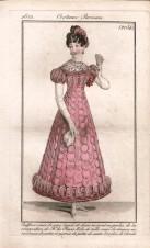 Платье жеское , модный журнал , 1822 год