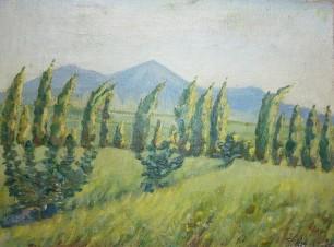 Горы и тополя