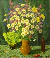Полевые цветы на зелёном