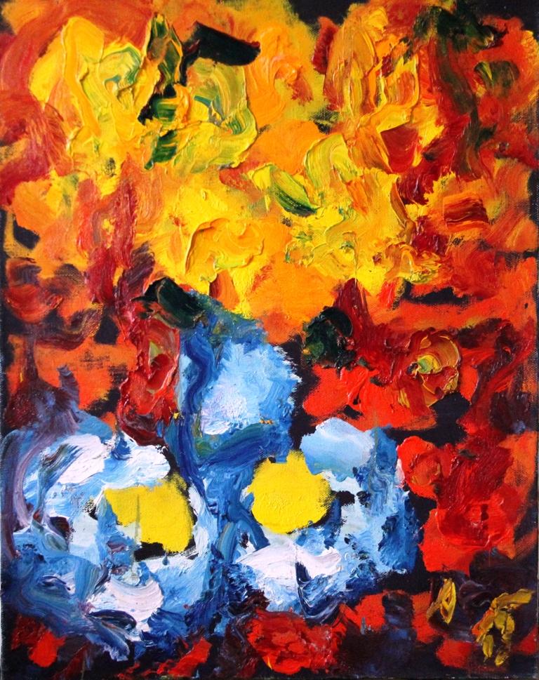 Цветы и лимоны