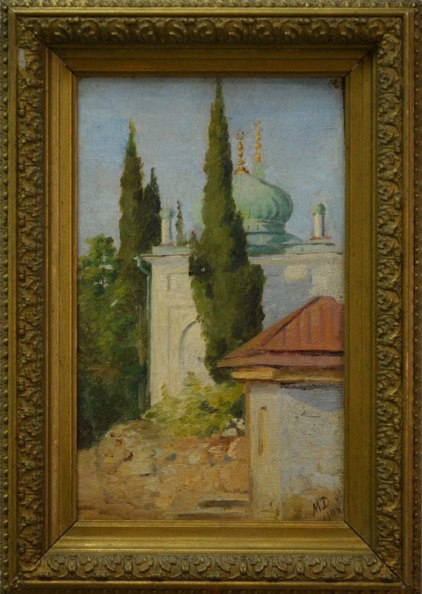 Пейзаж с мечетью