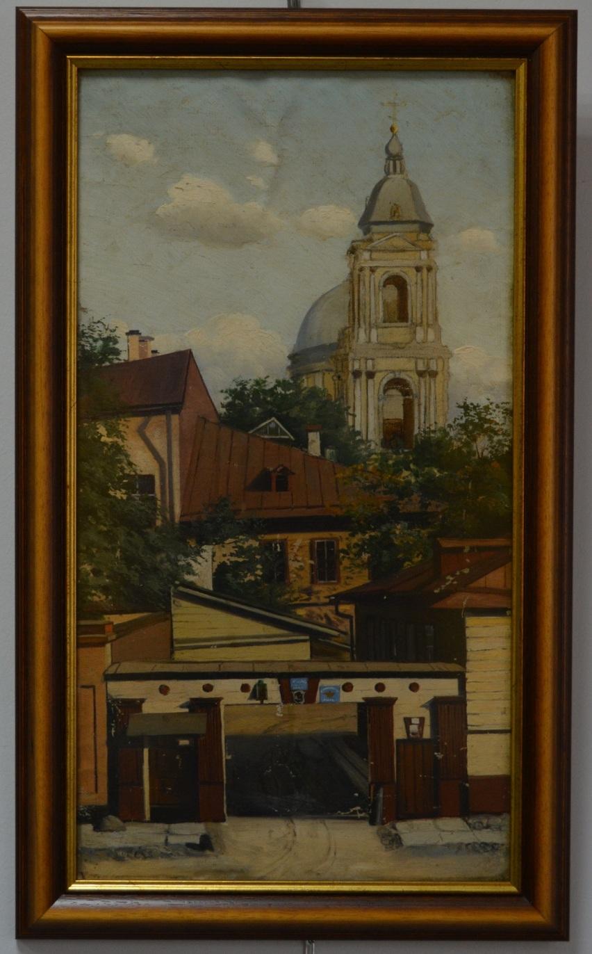 Картина «Храм в старой Москве».