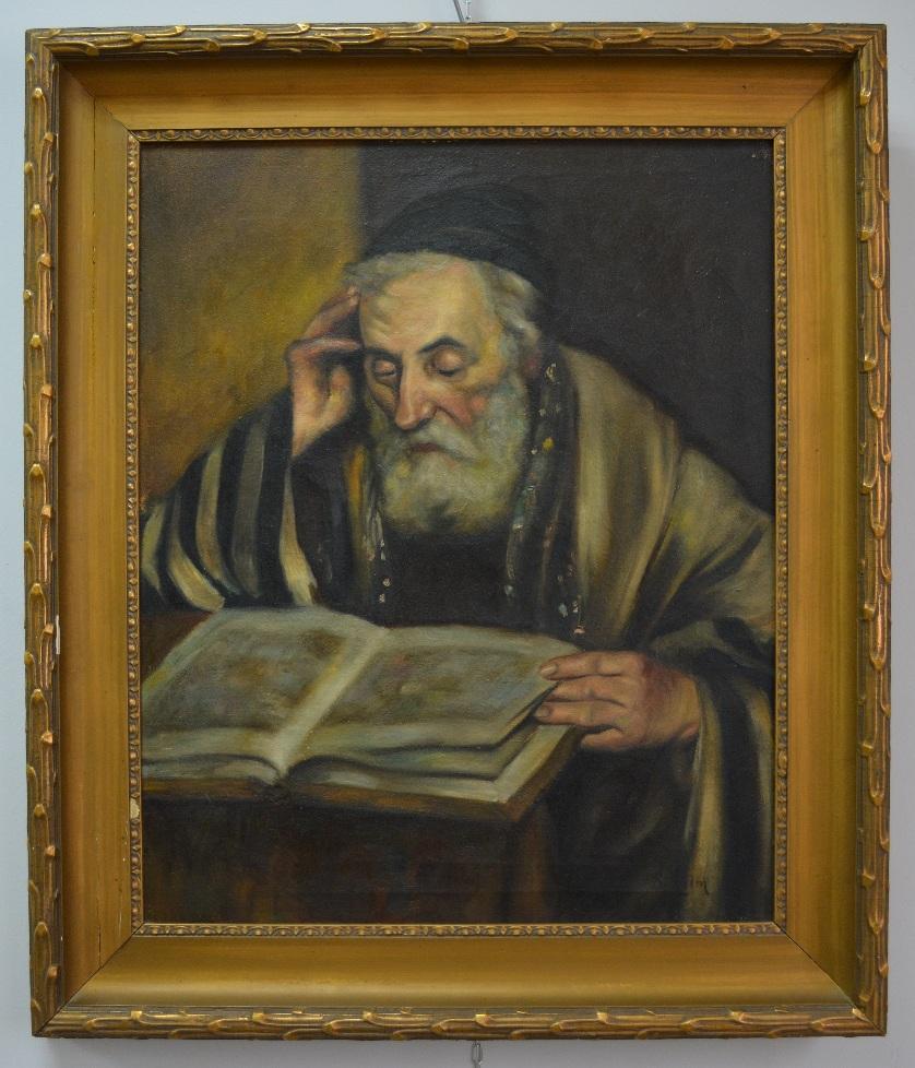 Старый еврей, читающий Тору