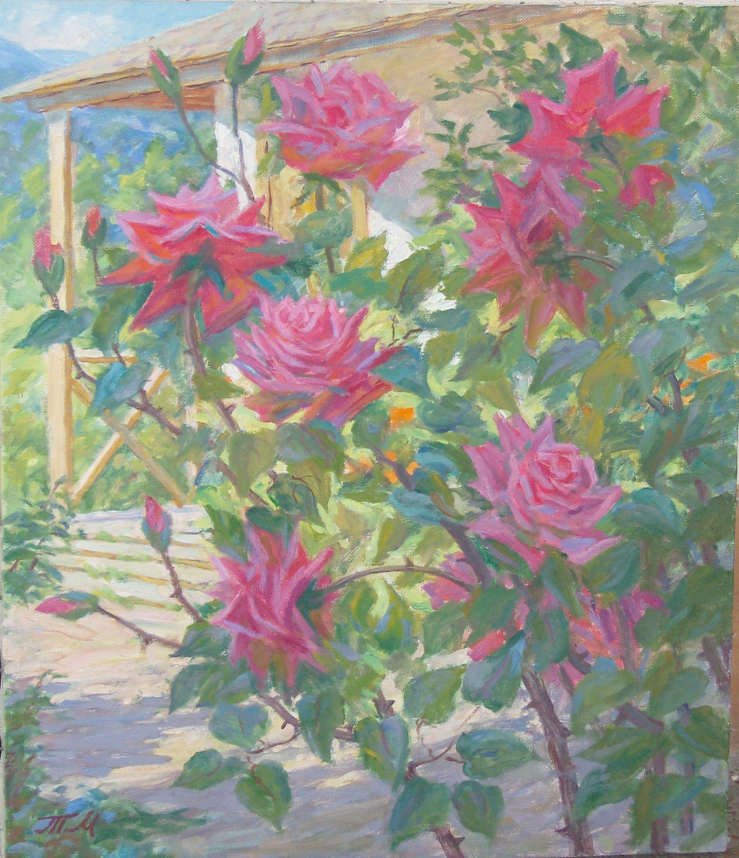 Розовый куст