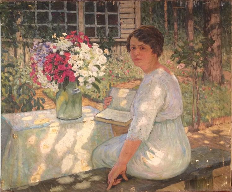 Портрет прабабушки в летнем саду на даче