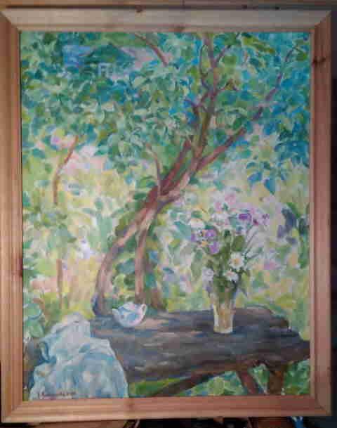 Натюрморт с садовым столом